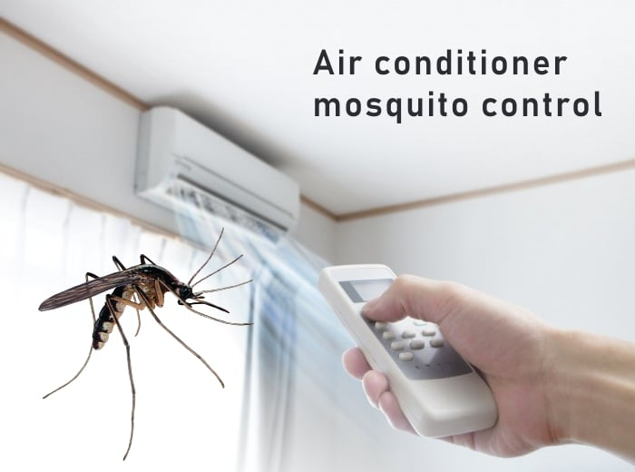 Air conditioner mosquito control